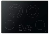 "F6RT30S2 Fulgor Milano 30"" Radiant Electric Cooktop with Touch Control and Brushed Aluminum Trim - Black"