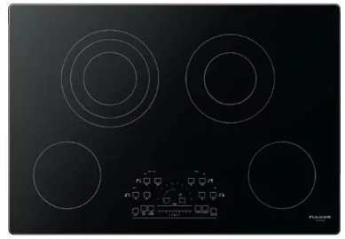 "F6RT30S2 Fulgor Milano 30"" Smoothtop Electric Cooktop with Peacock Display Electronic Controls and Audible Alert - Black"