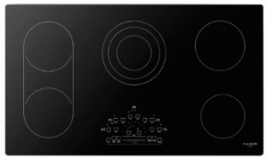 "F6RT36S2 Fulgor Milano 36"" Smoothtop Electric Cooktop wit Peacock Display Electronic Controls and Audible Alert - Black"