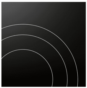 """F6RT36S2 Fulgor Milano 36"""" Smoothtop Electric Cooktop wit Peacock Display Electronic Controls and Audible Alert - Black"""