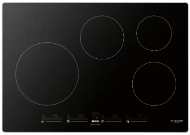 "F7IT30S1 Fulgor Milano 30"" Induction Cooktop with 4 Magnetic Burners and Sleek Frame - Black"