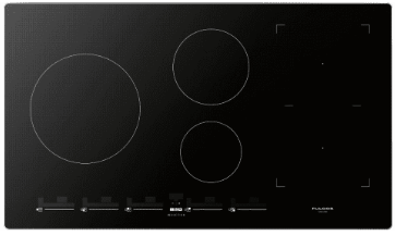 """F7IT36S1 Fulgor Milano 36"""" Induction Cooktop with 4 Magnetic Burners and Sleek Frame - Black"""