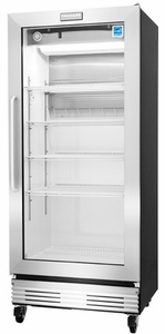 FCGM181RQB Frigidaire Commercial 18.4 Cu. Ft., Glass Door Merchandiser Refrigerator - Stainless Steel with Glass Door