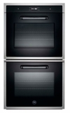 "FD30CONXE Bertazzoni Built-in Design Series 30"" Double Oven - Black"