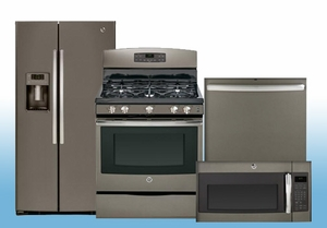 Package FD16 - GE 4 Piece Appliance Package - Gas - Includes Free Dishwasher - Slate