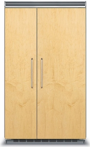 """FDSB5483 Viking 48"""" Side by Side Built-in Refrigerator with Quiet Cool - Custom Panel"""