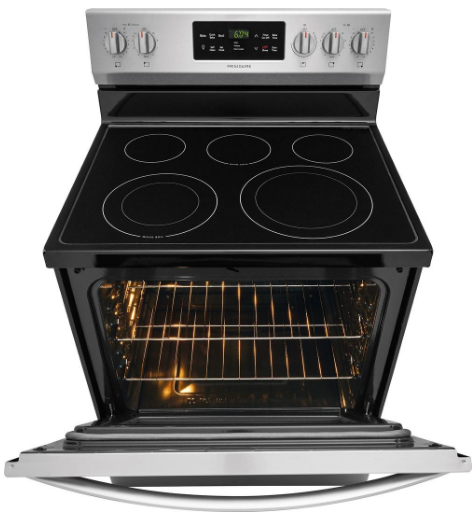 """FFEF3056TS Frigidaire 30"""" 5.4 cu. ft. Electric Freestanding Range with One-Touch Self Clean and Quick Bake Convection - Stainless Steel"""