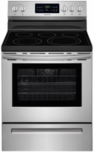 "FFEF3056TS Frigidaire 30"" 5.4 cu. ft. Electric Freestanding Range with One-Touch Self Clean and Quick Bake Convection - Stainless Steel"