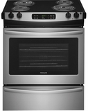 "FFES3016TS Frigidaire 30"" Electric Slide-In Range with Even Bake Technology and One-Touch Self Clean - Stainless Steel"