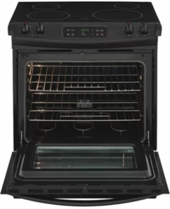 """FFES3026TB Frigidaire 30"""" 4.6 Cu. Ft. Slide-In Range with Self Cleaning Mode and Electronic Kitchen Timer - Black"""
