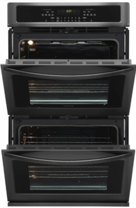 "FFET3026TD Frigidaire 30""  Built-In Electric Double Wall Oven with Self-Cleaning and Even Baking Technology - Black Stainless Steel"