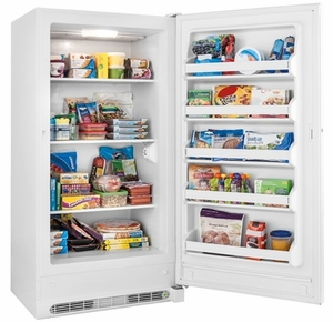 "FFFU17M1QW Frigidaire 17.4 Cu. Ft. Upright 34"" All Freezer - White"