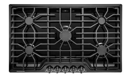 "FFGC3626SB Frigidaire 36"" Gas Cooktop with 5 Sealed Burners and Ready-Select Controls - Black"