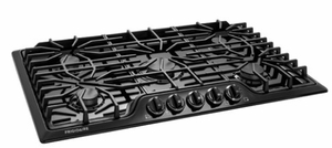 """FFGC3626SB Frigidaire 36"""" Gas Cooktop with 5 Sealed Burners and Ready-Select Controls - Black"""