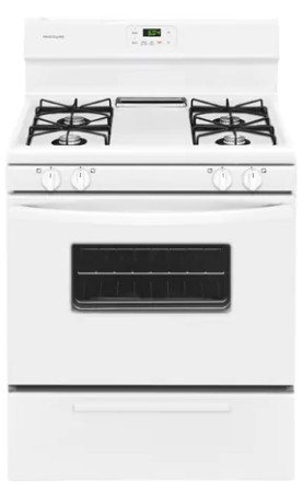 """FFGF3012TW Frigidaire 30"""" Freestanding Gas Range with Low Simmer Burner and Broil/Server Drawer - White"""