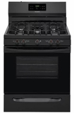 """FFGF3054TB Frigidaire 30"""" Freestanding Gas Range with Quick Boil and Sealed Gas Burners - Black"""