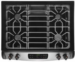 "FFGS3026TS Frigidaire 30"" Slide-In Gas Range with One-Touch Self Clean and Even Baking Technology - Stainless Steel"