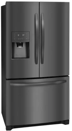 "FFHB2750TD Frigidaire 36"" 27.19 cu. ft. French Door Refrigerator with Multi Level LED Lighting and Dual Ice Ready - Black Stainless Steel"