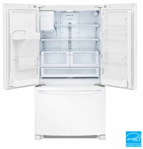 """FFHB2750TP Frigidaire 36"""" 27.19 cu. ft. French Door Refrigerator with Multi Level LED Lighting and Dual Ice Ready - Pearl"""