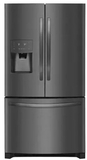 "FFHD2250TD Frigidaire 36"" French Door 22.7 Cu. Ft.Refrigerator with Store-More Shelves and PureSource Ultra II Water Filtration - Black Stainless Steel"