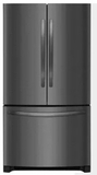 "FFHG2250TD Frigidaire 36"" 22.4 cu. ft. French Door Refrigerator with Store-More Shelves and Effortless Glide Crisper Drawers - Black Stainless Steel"
