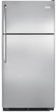 "FFHI1831QS Frigidaire 18 Cu. Ft. Top Freezer 30"" Wide Refrigerator with Humidity Controlled Crisper Drawers - Stainless Steel"