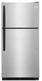 """FFHT1514TS Frigidaire 28"""" Top Mount 14.5 Cu. Ft.  Refrigerator with Store-More Gallon Door Shelf and Clear Dairy Bin - Stainless Steel"""