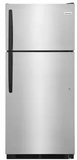 """FFHT1621TS Frigidaire 28"""" Top Mount 16.3 Cu. Ft.  Refrigerator with Store-More Gallon Door Shelf and Clear Dairy Bin - Stainless Steel"""