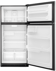 """FFHT1821TS Frigidaire 30"""" 18 Cu. Ft. Top Freezer Refrigerator with Humidity-Controlled Crisper Drawers and Reversible Door - Stainless Steel"""