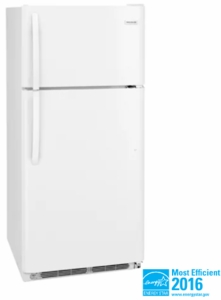 """FFHT1821TW Frigidaire 30"""" 18 Cu. Ft. Top Freezer Refrigerator with Humidity-Controlled Crisper Drawers and Reversible Door - White"""