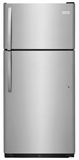 """FFHT1832TS Frigidaire 30"""" Top Mount 18 Cu. Ft.  Refrigerator with Store-More Gallon Door Shelf and Clear Dairy Bin - Stainless Steel"""