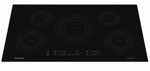 """FFIC3626TB Frigidaire 36"""" Built-In Induction Cooktop with Auto Sizing Pan Detection and Even Heat - Black"""
