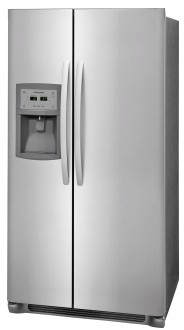 """FFSC2323TS Frigidaire 36"""" Counter-Depth Side by Side 22.2 Cu. Ft. Refrigerator with Ready Select Controls and Store More Humidity Controlled Crisper Drawers - Stainless Steel"""