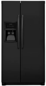 "FFSS2325TE Frigidaire 33"" 22.0 Cu. Ft. Side-by-Side Refrigerator with Multi-level LED Lighting and Adjustable Interior Storage - Ebony"