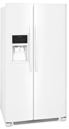 "FFSS2325TP Frigidaire 33"" 22.0 Cu. Ft. Side-by-Side Refrigerator with Multi-level LED Lighting and Adjustable Interior Storage - Pearl"