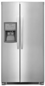 "FFSS2325TS Frigidaire 33"" 22.0 Cu. Ft. Side-by-Side Refrigerator with Multi-level LED Lighting and Adjustable Interior Storage - Stainless Steel"