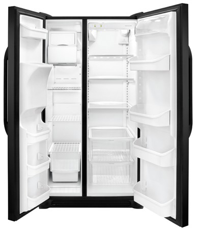 FFSS2614QE Frigidaire 26 Cu.Ft Side by Side Refrigerator with Ultra Water Filtering - Black