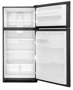 "FFTR1821TB Frigidaire 30"" 18 Cu. Ft. Top Mount Refrigerator with Store-More Gallon Door Shelf and Clear Dairy Bin - Black"