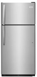 """FFTR1821TS Frigidaire 30"""" 18 Cu. Ft. Top Mount Refrigerator with Store-More Gallon Door Shelf and Clear Dairy Bin - Stainless Steel"""