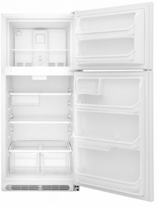 "FFTR1821TW Frigidaire 30"" 18 Cu. Ft. Top Mount Refrigerator with Store-More Gallon Door Shelf and Clear Dairy Bin - White"
