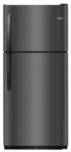 "FFTR2021TD Frigidaire 30"" 20.4 Cu. Ft. Top Mount Refrigerator with Store-More Gallon Door Shelf and Clear Dairy Bin - Black Stainless Steel"