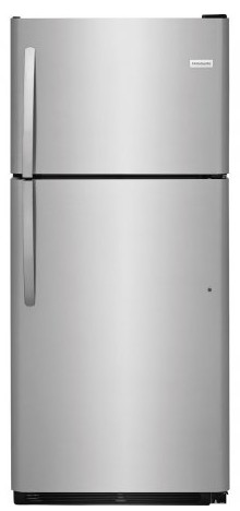 "FFTR2021TS Frigidaire 30"" 20.4 Cu. Ft. Top Mount Refrigerator with Store-More Gallon Door Shelf and Clear Dairy Bin - Stainless Steel"