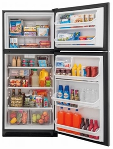"""FFTR2021TS Frigidaire 30"""" 20.4 Cu. Ft. Top Mount Refrigerator with Store-More Gallon Door Shelf and Clear Dairy Bin - Stainless Steel"""