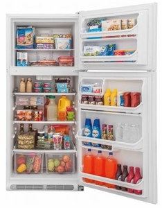 "FFTR2021TW Frigidaire 30"" 20.4 Cu. Ft. Top Mount Refrigerator with Store-More Gallon Door Shelf and Clear Dairy Bin - White"
