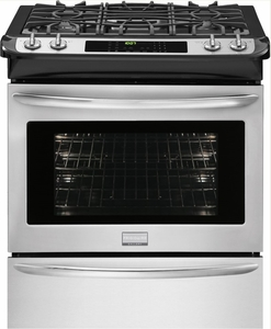 "FGDS3065PF Frigidaire 30"" Dual Fuel Slide-in Range - Built with America Pride - Smudge-Proof Stainless Steel"