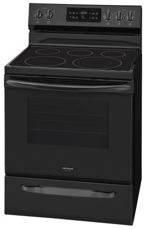 "FGEF3036TB Frigidaire 30"" Gallery Series Freestanding Electric Range with Steam Cleaning and Quick Bake Convection - Black"