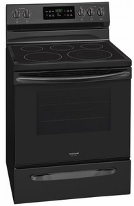 """FGEF3036TB Frigidaire 30"""" Gallery Series Freestanding Electric Range with Steam Cleaning and Quick Bake Convection - Black"""