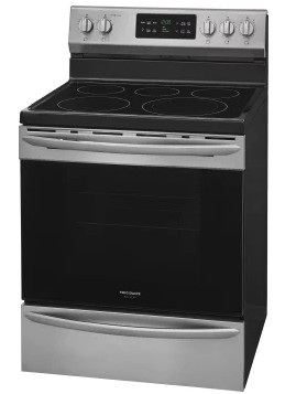 "FGEF3036TF Frigidaire 30"" Gallery Series Freestanding Electric Range with Steam Cleaning and Quick Bake Convection - Smudge Proof Stainless Steel"