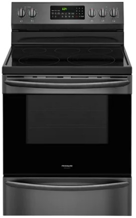 "FGEF3059TD Frigidaire Gallery 30"" Freestanding Electric Range with True Convection and Quick Boil - Black Stainless Steel"