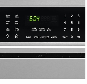 """FGEW276SPF Frigidaire Gallery 27"""" Single Electric Wall Oven with Power Broil & Reversible Door - Stainless Steel"""
